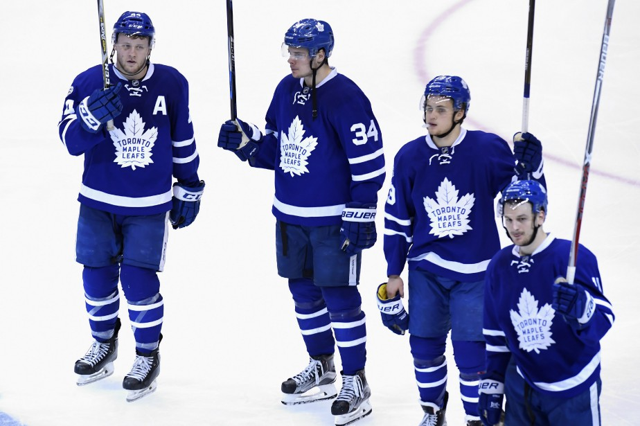 Morgan Rielly (44), Auston Matthews (34), William Nylander... (Photo Frank Gunn, PC)