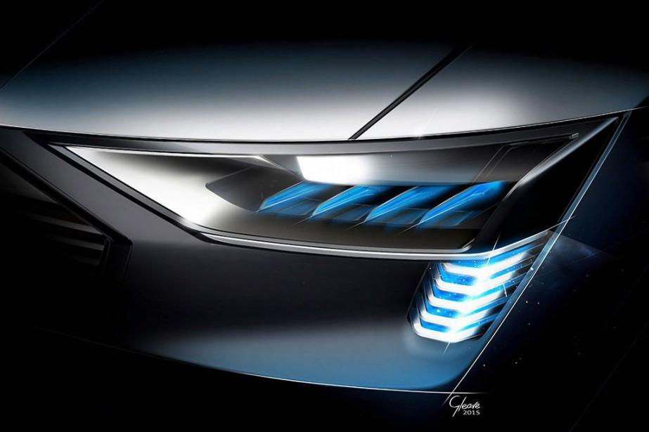 <strong>Audi Concept e-tron</strong><strong>Quattro</strong>Audi mène la charge en matière d'illumination futuriste. Ses DEL organiques et animées «Swarm» ont notamment inspiré les feux de ses plus récents modèles. Le concept e-tron Quattro, qui a vu le jour l'automne dernier, présente la plus récente version d'un éclairage moins aveuglant et plus modulable que les DEL traditionnelles. (Photo : Audi)