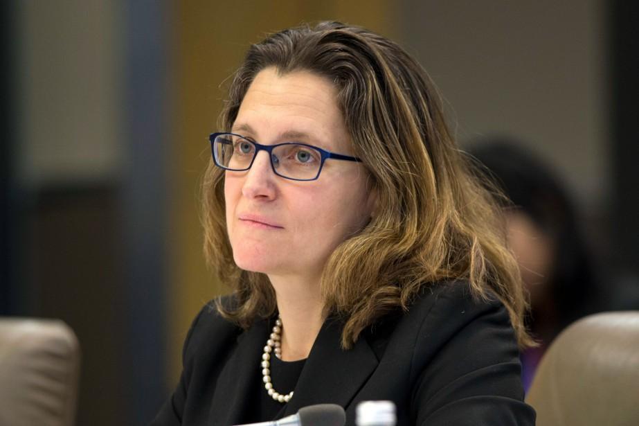 La ministre fédérale des Affaires étrangères, Chrystia Freeland.... (PHOTODavid Rowland, Archives Associated Press)