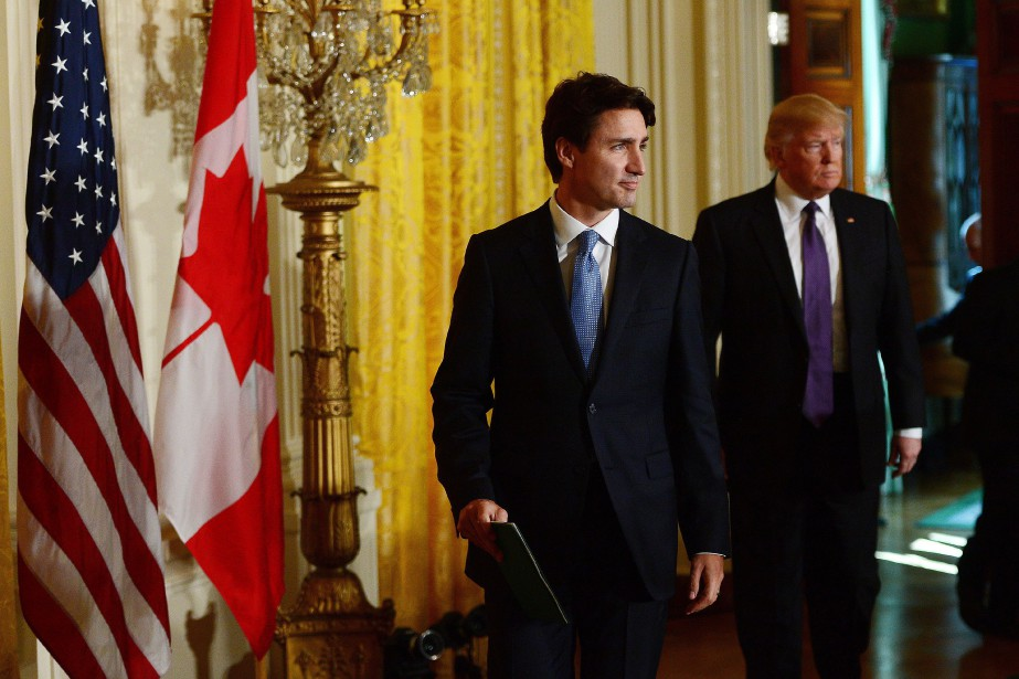 Le premier ministre Justin Trudeau et le président... (Photo Sean Kilpatrick, archives La Presse canadienne)