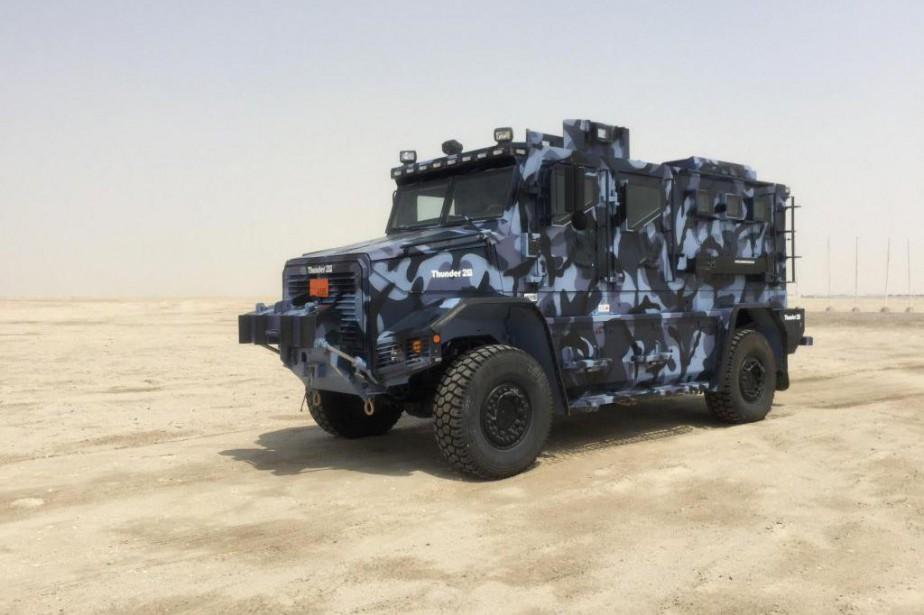 Le Thunder 2 est l'un des véhicules blindés... (Photo fournie par le Groupe Cambli)