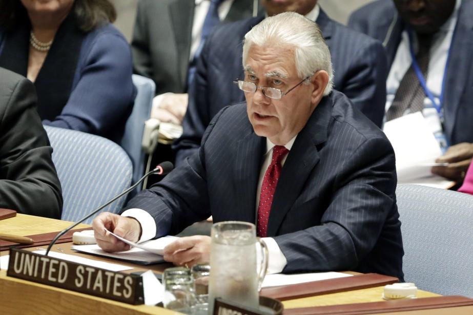 Le secrétaire d'État américain Rex Tillerson... (Photo Richard Drew, AP)