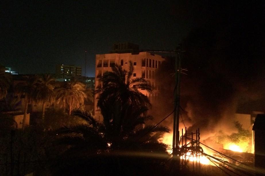 Une explosion a eu lieu à Karrada, un... (photo Susannah George, AP)