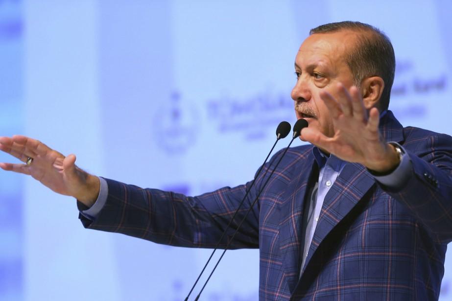 Le président Recep Tayyip Erdogan a prononcé un... (PHOTO AP/FOURNIE PAR LE BUREAU DU PRÉSIDENT TURC)