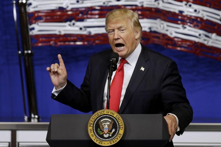Le président Donald Trump a affirmé dimanche qu'il... (Photo Kiichiro Sato, ARCHIVES ASSOCIATED PRESS)