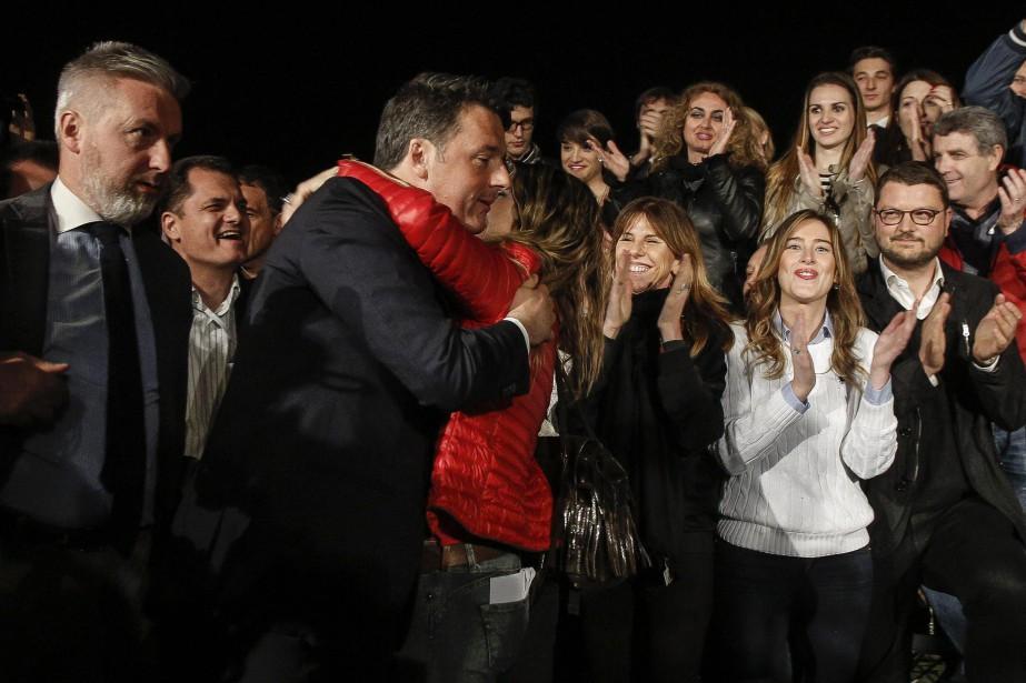 «Une histoire toute nouvelle commence», a lancé Matteo... (Photo Giuseppe Lami,AP)