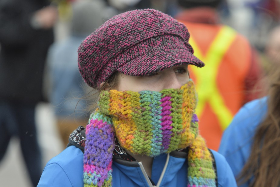 Le froid a sévi lors de la journée de dimanche (Martin Roy, Le Droit)