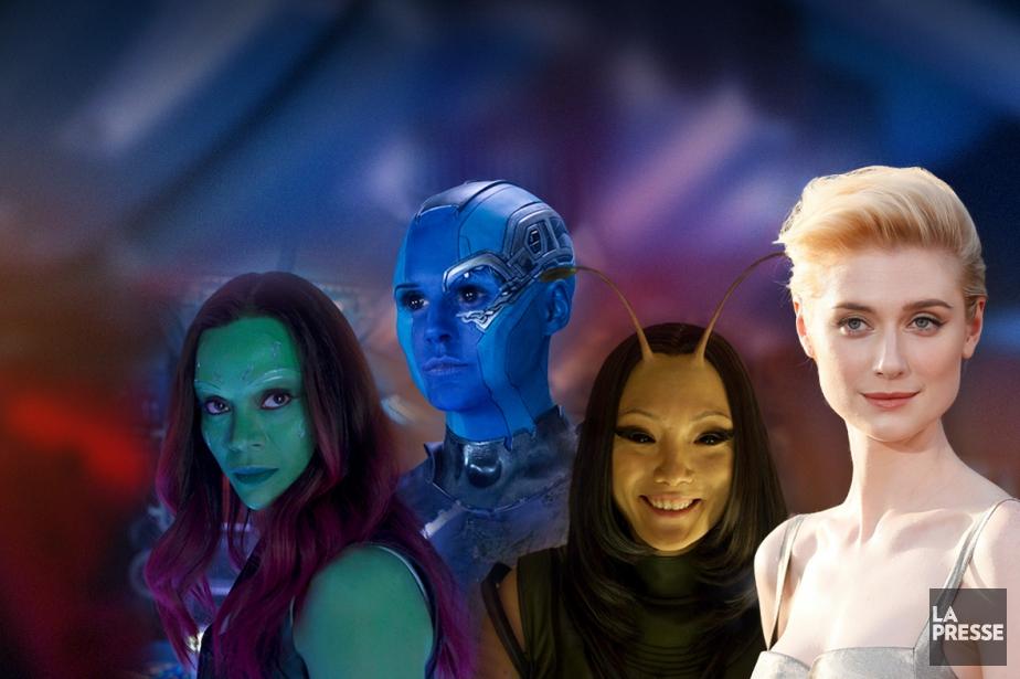 Zoe Saldana,Karen Gillian,Pom Klementieff etElizabeth Debicki incarnent respectivementGamora,Nebula,Mantis... (Photomontage La Presse)