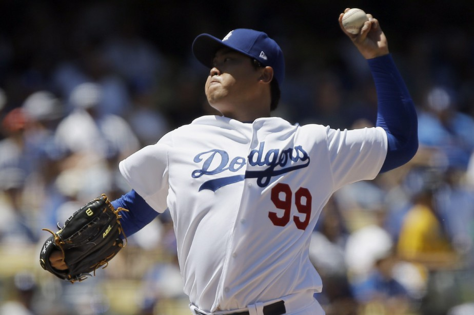 Hyun-Jin Ryu... (Photo Alex Gallardo, Ap)