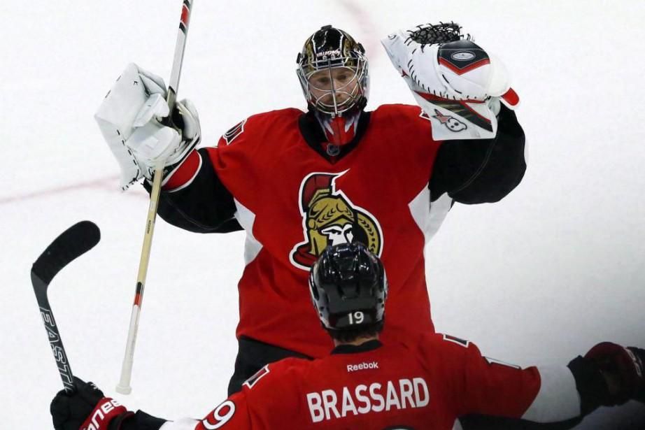 Craig Anderson tentera de signer une troisième victoire... (PhotoFred Chartrand, archives La Presse canadienne)
