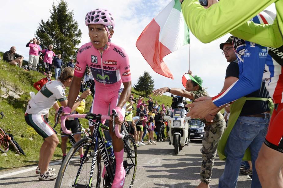 Nairo Quintanaa remporté le Tour d'Italie lors de... (Photo Fabio Ferrari, archives AP)