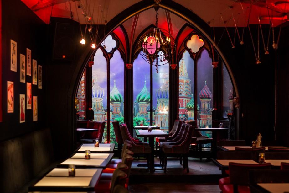 L'intérieur du restaurant Vladimir Poutine a les allures... (Photo fournie par le restaurant Vladimir Poutine)