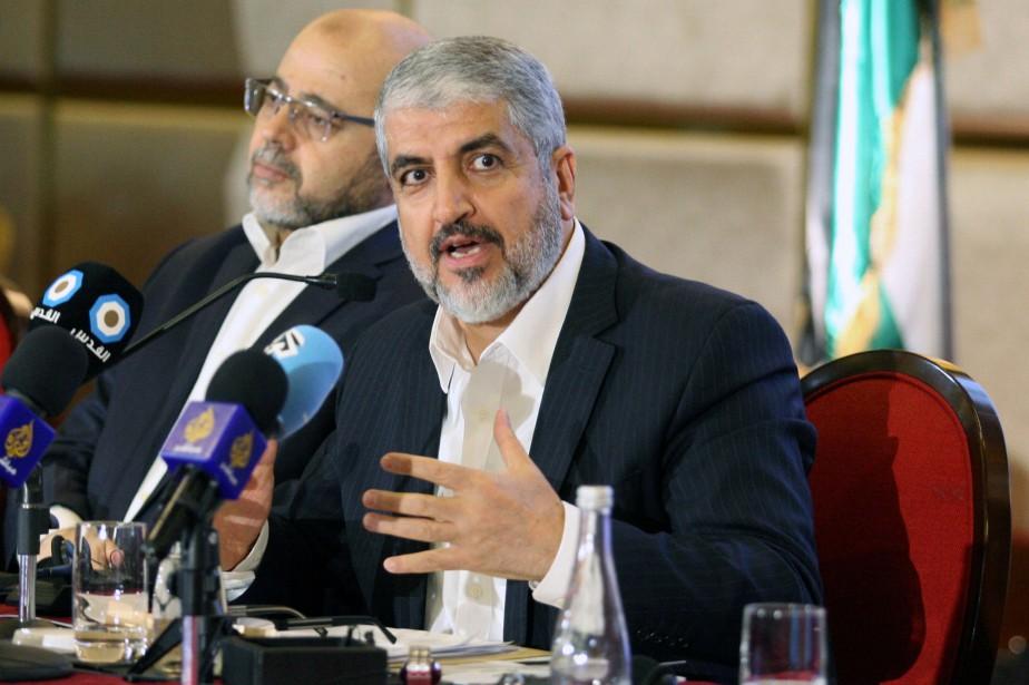 Le chef du Hamas palestinien Khaled Mechaal.... (REUTERS)
