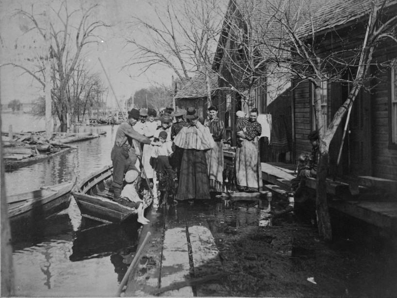 Inondations à Pointe-Gatineau, en 1876. | 3 mai 2017