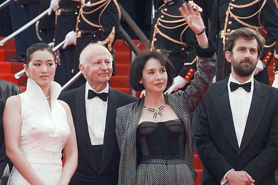 En 1997, Isabelle Adjani (au centre) préside le... (PHOTO ARCHIVES AFP)