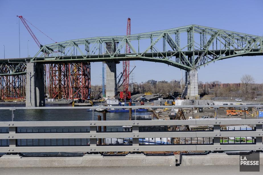 Le chantier du nouveau pont Champlain qui reliera... (PHOTO EDOUARD PLANTE-FRÉCHETTE, LA PRESSE)