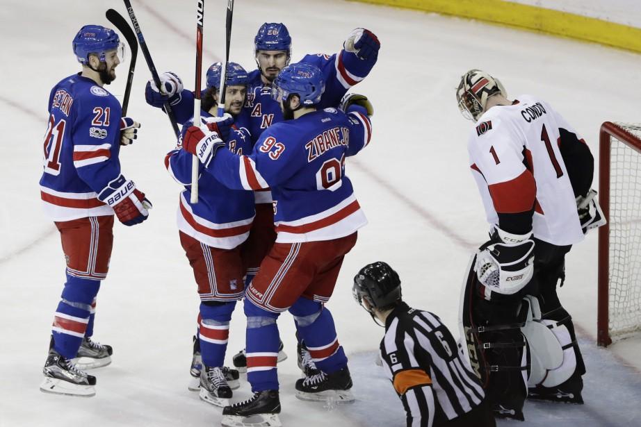 Les Rangers ont remporté leurs quatre dernières sorties... (PHOTO Frank Franklin II, AP)