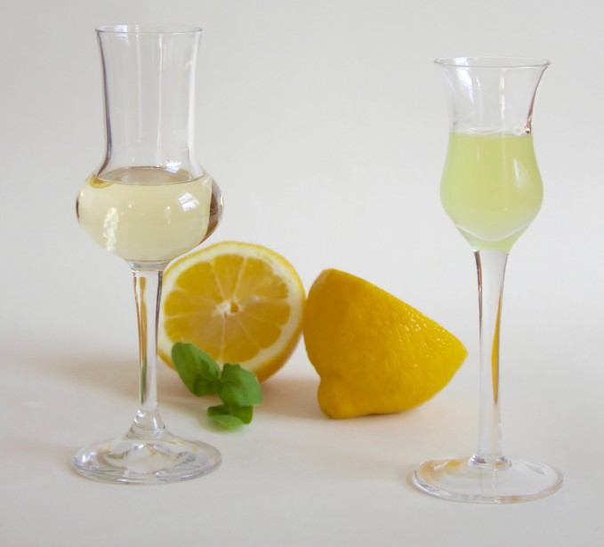 C'est l'heure du digestif! Verre à grappa Riserva Grappa de Bormioli Rocco et verre à Limoncello Artland. (Mélissa Bradette)