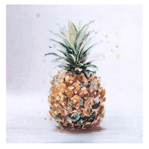 Gagnon Frères - Huile sur toile montrant un ananas. <br />Dimension: 32 po X 32 po ()