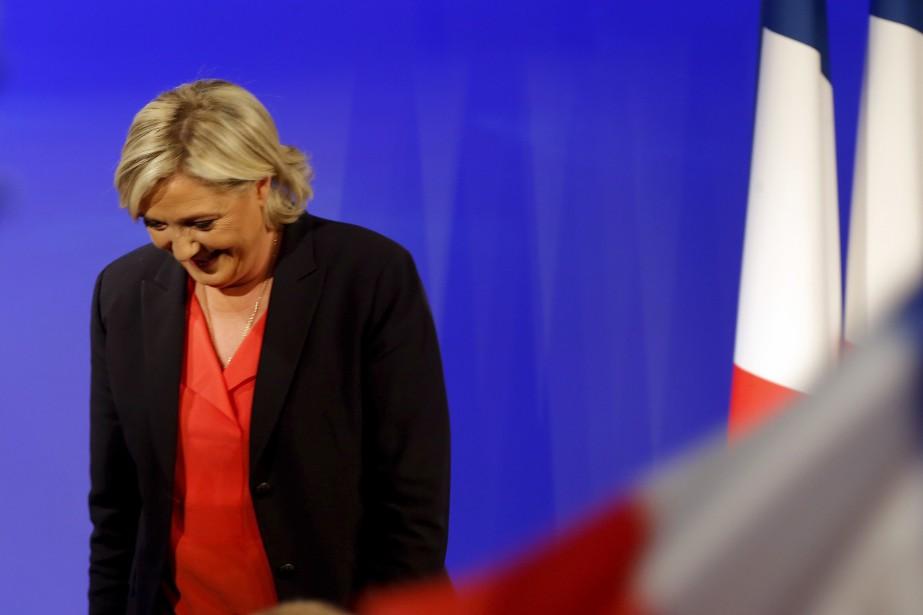 La candidate d'extrême droite Marine Le Pen a livré un court discours après sa défaite, dans le quartier général du Front national à Paris. | 7 mai 2017