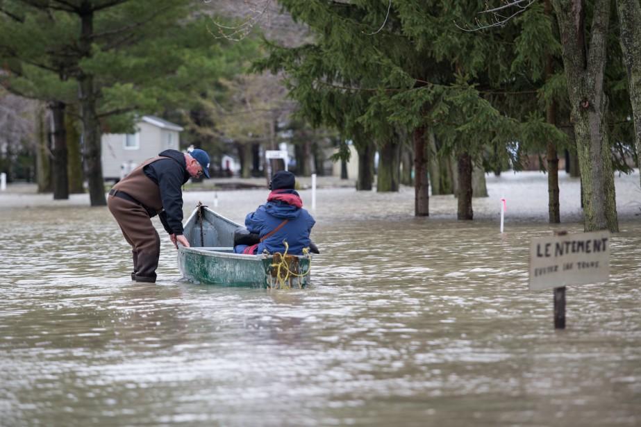 La MRC de Maskinongé, dont la municipalité de Yamachiche, est particulièrement touchée par les inondations. | 8 mai 2017