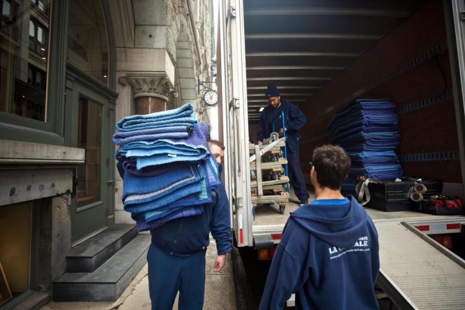 «Presque tous nos déménagements se font à trois... (Photo André Pichette, La Presse)