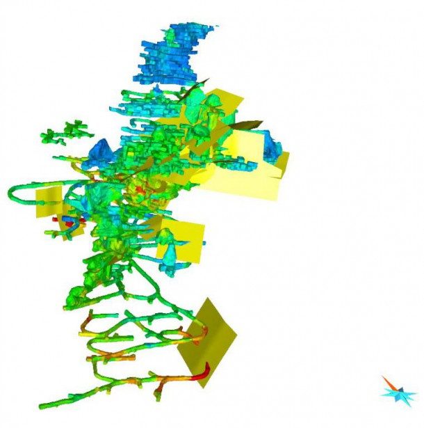 Mira Geoscience intègre des données dans son logiciel... (IMAGE FOURNIE PARMIRA GEOSCIENCE)