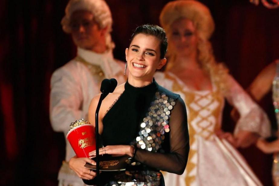 EmmaWatson a remporté le trophée du meilleur acteur... (PHOTO MARIO ANZUONI, REUTERS)
