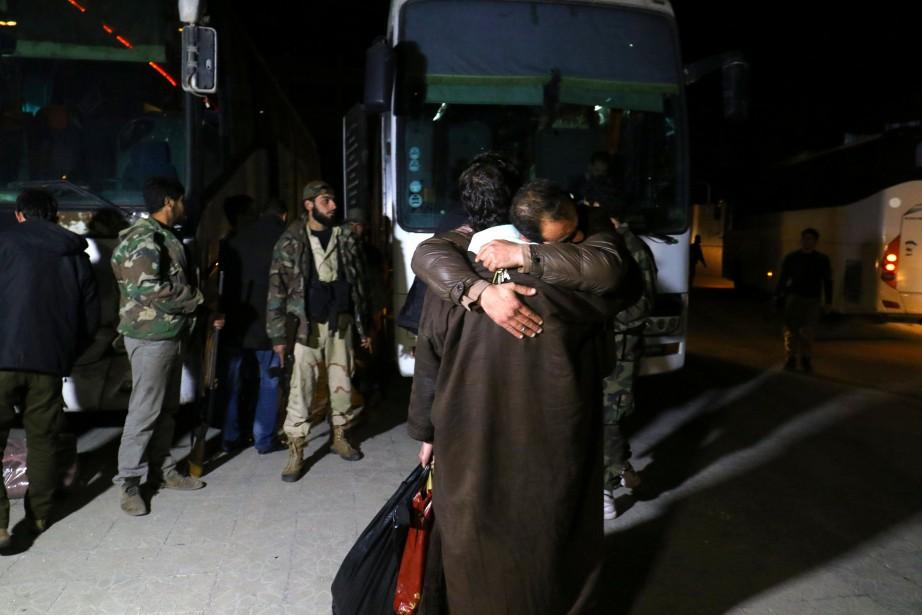Après la conclusion d'un accord pour évacuer Barzé,... (PHOTO REUTERS)