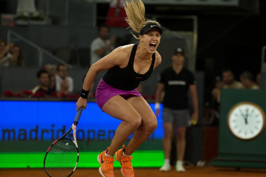 Eugenie Bouchard n'a pas caché sa joie après... (PHOTO REUTERS)