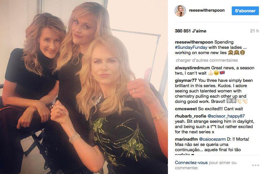 Sur Instagram, Reese Witherspoon a écrit qu'elle venait... (IMAGE TIRÉE D'INSTAGRAM)