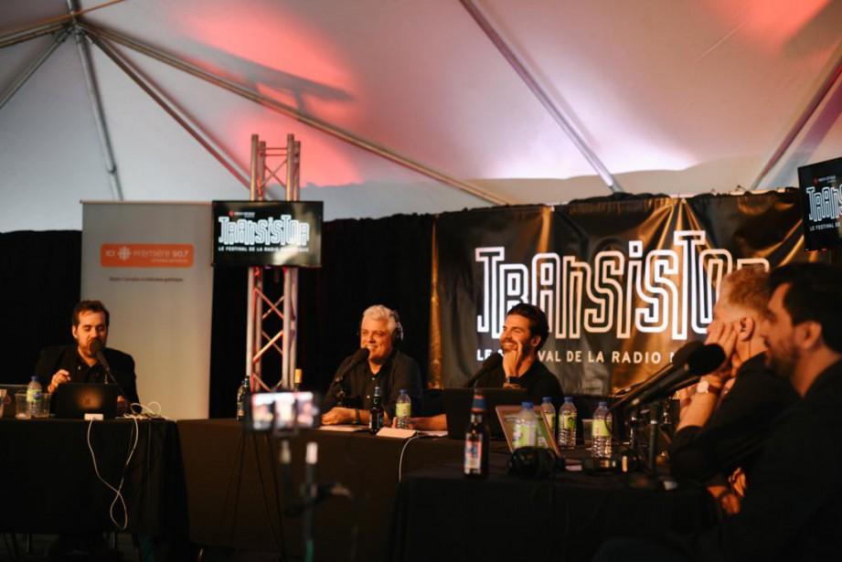 Samedi il y a deux semaines, l'équipe de... (Photo Sarah Scott, fournie par le Festival Transistor)