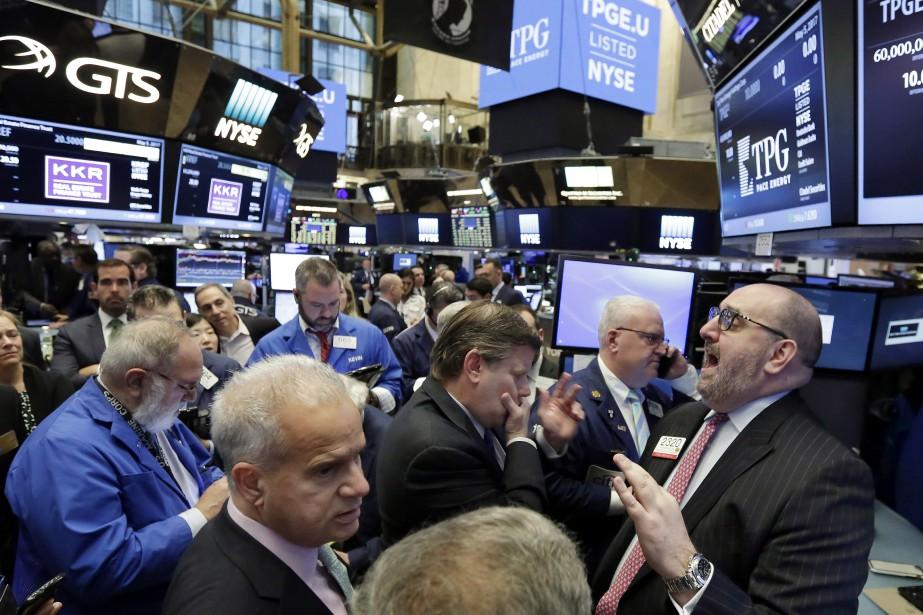 Wall Street n'a guère dégagé de tendance mardi,... (Photo Richard Drew, AP)