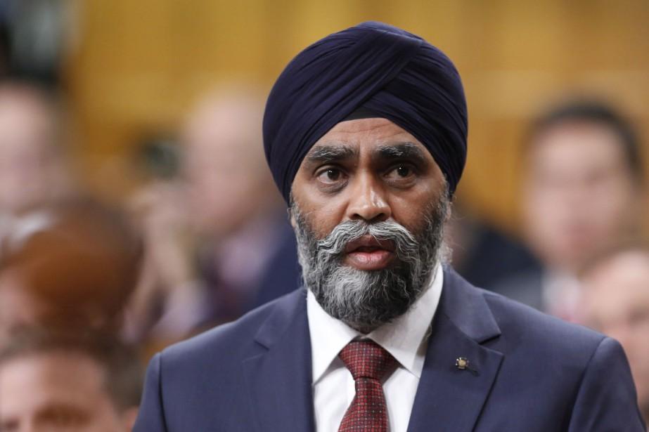 Le ministre de la Défense, Harjit Sajjan... (PHOTO ARCHIVES LA PRESSE CANADIENNE)