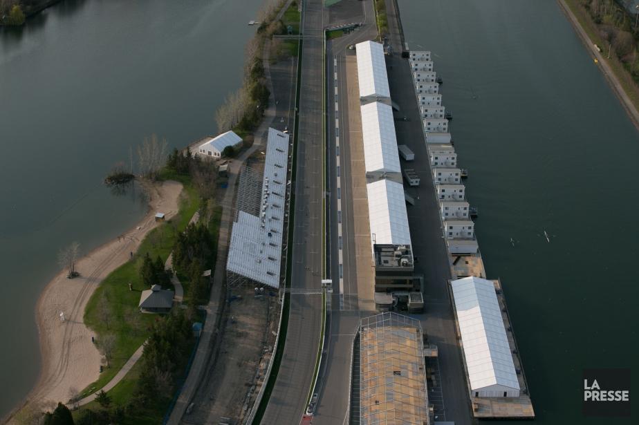 Vue aérienne sur le circuit Gilles-Villeneuve situé sur... (PHOTO MARTIN TREMBLAY, ARCHIVES LA PRESSE)