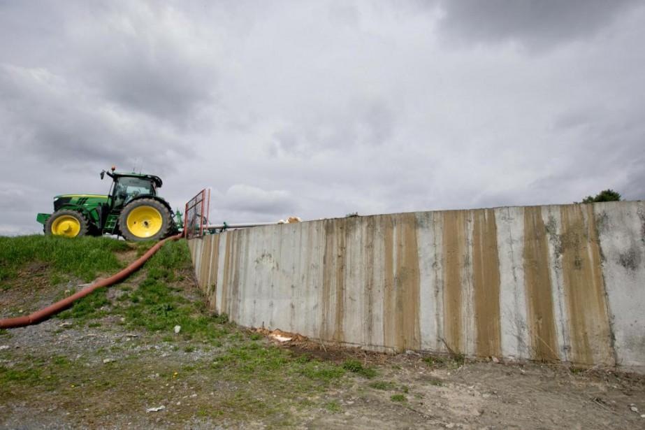 Les fosses à purin contiennent généralement de 1000... (PHOTO DAVID BOILY, LA PRESSE)