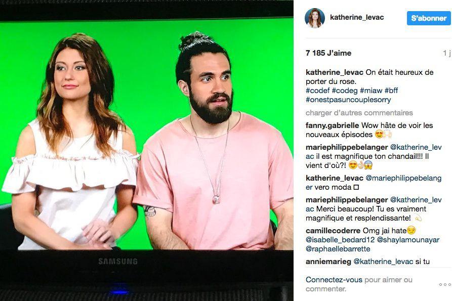 Katherine Levac et Jay Du Temple... (Photo tirée du compte Instagram de Katherine Levac)