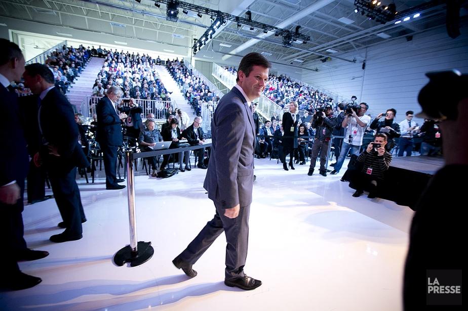 Pierre Beaudoin, lors de son entrée à la... (Photo François Roy, La Presse)