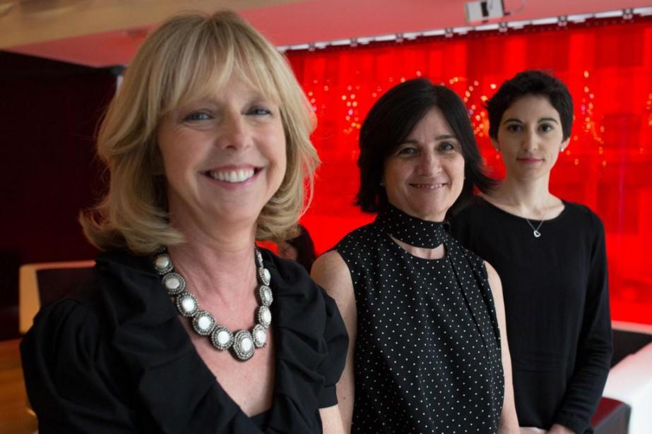 Dominique Chaloult, Sophie Deschênes et Fanny-Laure Malo font... (PHOTO SIMON GIROUX, LA PRESSE)