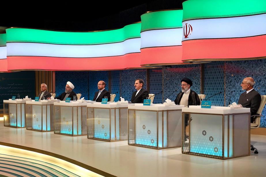 Les six candidats à la présidentielle iranienne ont... (PHOTO AP/Agence de diffusion de la République islamique d'Iran)