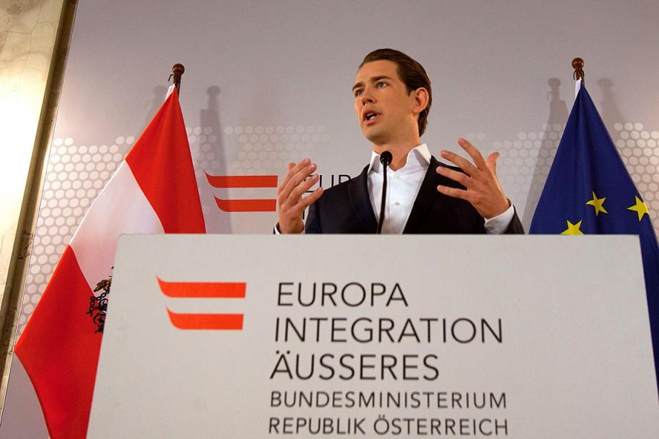 Le ministre des Affaires étrangères Sebastian Kurz a... (PHOTO ALEX HALADA, AGENCE FRANCE-PRESSE)