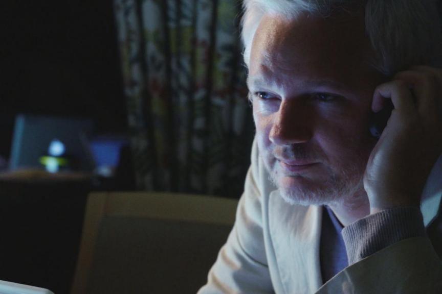 Julian Assange dans Risk de Laura Poitras.... (Photofournie par Métropole Films)