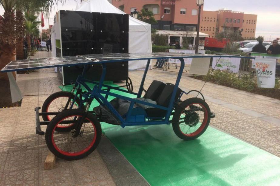 Le Solar-E-Cycle se veut un véhicule peu coûteux... (Photo fournie par Roger Christen)