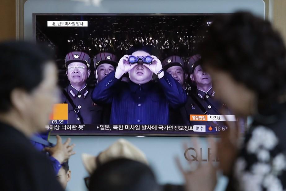 Le leader de la Corée du Nord Kim... (AP)
