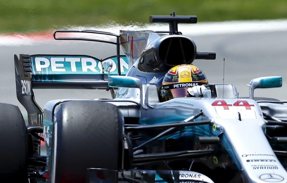 Lewis Hamilton a remporté le Grand Prix d'Espagne, dimanche à Barcelone. | 14 mai 2017
