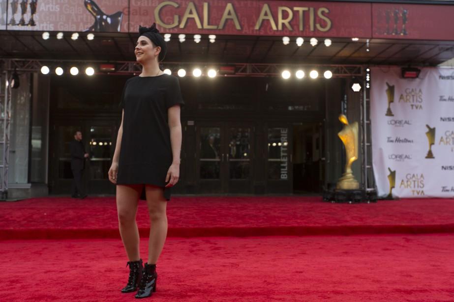 Ève Landry sur le tapis rouge   14 mai 2017
