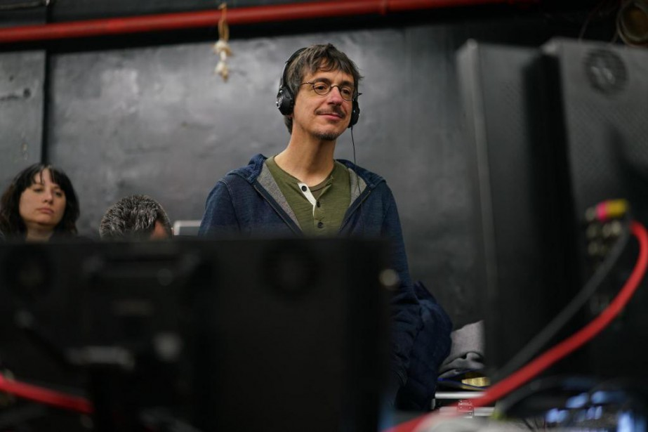 Philippe Falardeau sur le plateau de tournage de... (photo fournie par Entract Films)