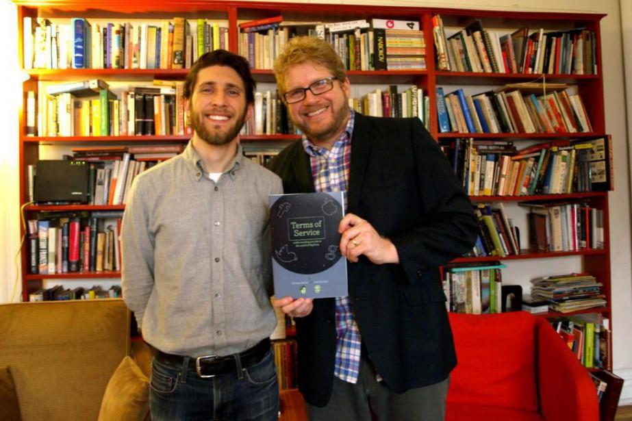 Michael Keller et Josh Neufeld, auteurs de la... (Photo fournie par Michael Keller)