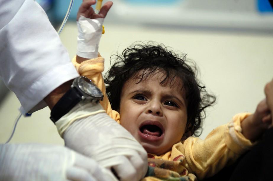 L'épidémie de choléraa fait 184 morts depuis le... (PHOTO AFP)