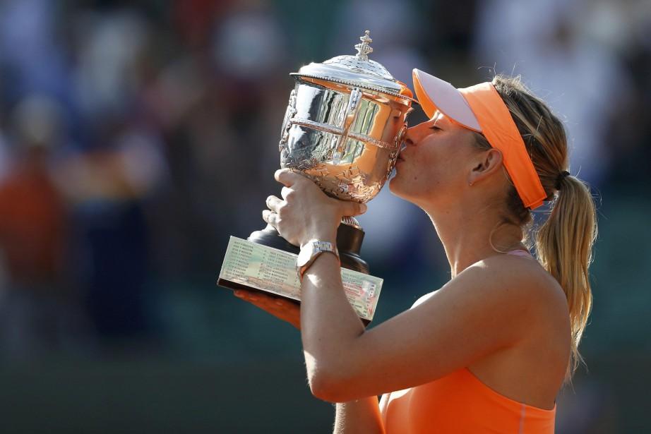 Maria Sharapova a remporté le tournoi de Roland-Garros... (PHOTO REUTERS)